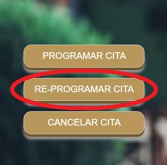 opcion para reprogramar cita en fonacot